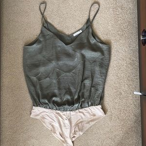 Green tank body suit - never worn